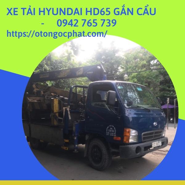 Xe Tải Hyundai HD65 Gắn Cẩu TADANO 3 Tấn
