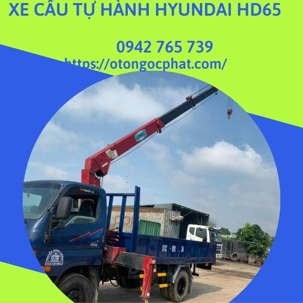 Xe cẩu Hyundai HD65 gắn cẩu Unic 330